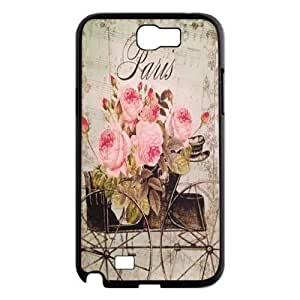 Flower Paris New Fashion DIY Phone Case for Samsung Galaxy Note 2 N7100,customized cover case ygtg618011