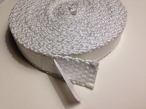 Fiberglass Boiler Tape, Adhesive Backed, 2'' wide x 1/8'' thick x 100ft. Roll by Liberty Supply (Image #1)