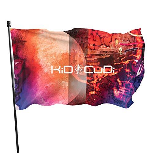 Lin XOXO Kid Cudi Man On The Moon Garden Flag Decorative Home Outdoor Flag Anniversary Banner 3' X 5' (Kid Cudi Man On The Moon Iii)