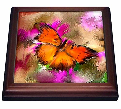 3dRose trv_3343_1 Butterfly Trivet with Ceramic Tile, 8 by 8