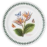 Portmeirion Exotic Botanic Garden Dinner Plate with Bird of Paradise Motif, Set of 6