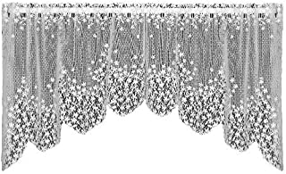 product image for Heritage Lace Blossom 48-Inch Wide by 22-Inch Drop Swag Pair, Ecru