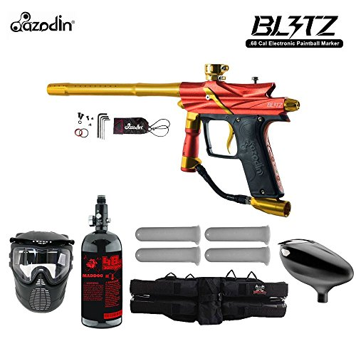 - MAddog Azodin Blitz 3 Starter HPA Paintball Gun Package - Orange