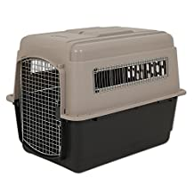 Petmate 21554 Vari Kennel Ultra Fashion, Extra Large (Bleached Linen/Coffee Grounds)