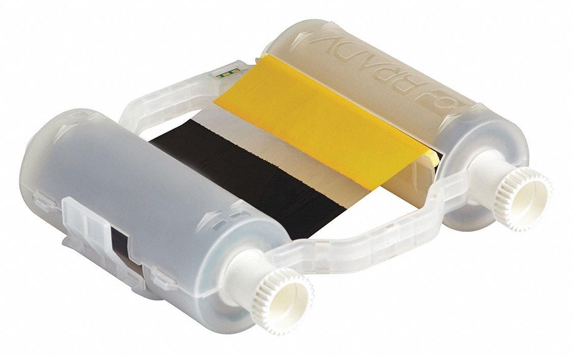 Black//Yellow 200/' Brady B30-R10000-KY-16 Ribbons 200
