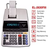 "Sharp EL-2630PIII Two-Color Printing Calculator 4.8 Lines/Sec 4"" Black/Red"