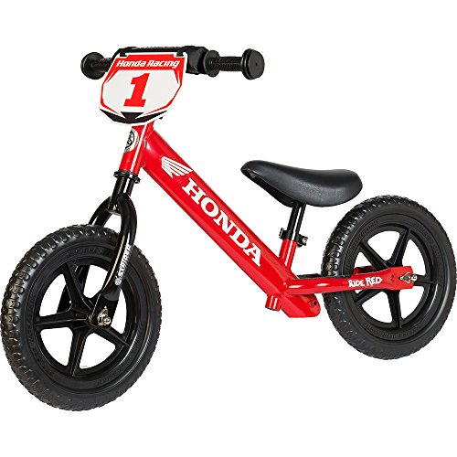Strider – 12 Sport Balance Bike, Ages 18 Months to 5 Years, Custom Honda Red