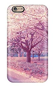 Awesome Pink Nature Flip Case With Fashion Design For Iphone 6