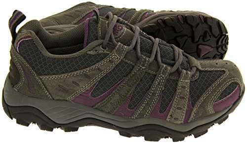 LADIES MONTANA/PINE FULLY WATERPROOF WALKING/HIKING LACE UP TRAINER SHOE Grey 93QlhT