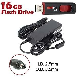 Battpit Cargador Adaptador de repuesto para portátiles Asus X35F con cable alimentación Con memoria USB de 16GB GRATUITA