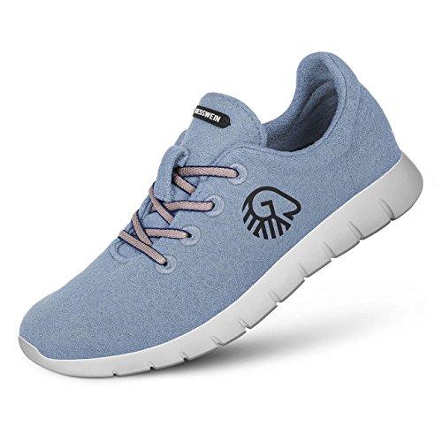 Sneaker Herren Woll Himmelblau Merino Giesswein Runners REH6q4x