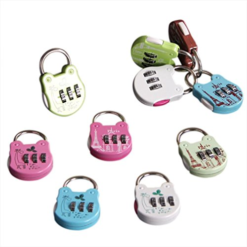 Digit Combination Luggage Code Lock Password Padlock Mini Suitcase Lock,Color Random