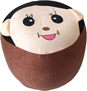 Inflatable Stool Kids Chair Cartoon Design Kids Stool for Indoor and Outdoor Use, Portable Folding Children Chair Sofa Bean Bag Chair for Kids and Adults (Mengqiqi)