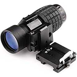 Magnifying Scope 3X30mm Focus Adjustable with Flip up Mount Picatinny Weaver Rail