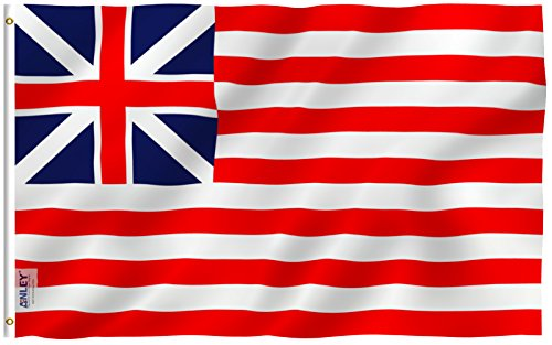 ANLEY [Fly Breeze] 3x5 Foot Grand Union Flag - Vivid Color and UV Fade Resistant - Canvas Header and Double Stitched - Continental Colors Flags Polyester with Brass Grommets 3 X 5 Ft (Union Flag)