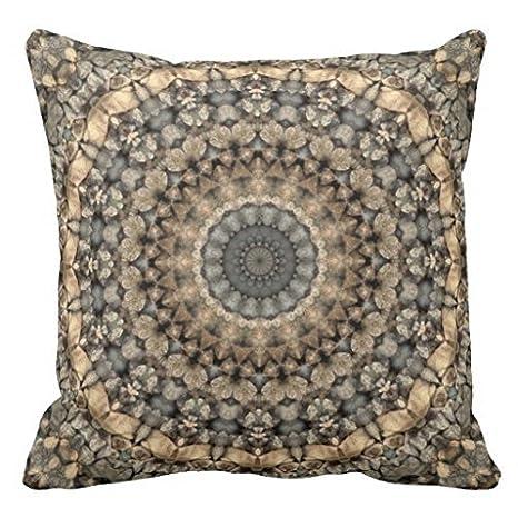 Amazon.com: Beige café claro Gris Pebbles Mandala Manta ...