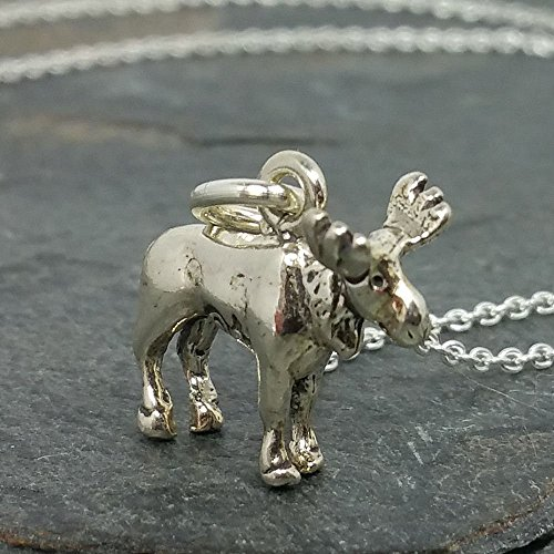 Tiny Moose 3D Necklace - 925 Sterling Silver