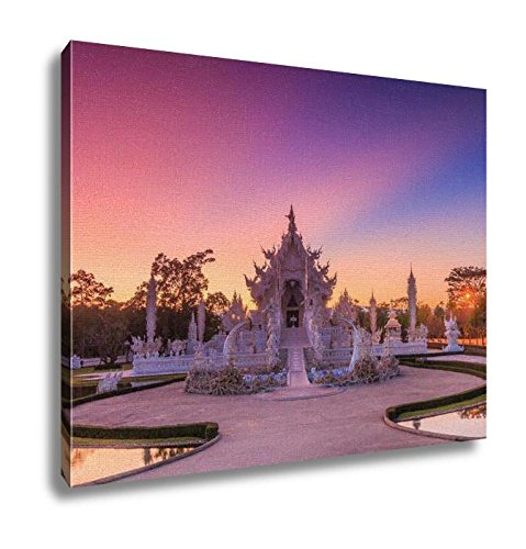 Ashley Canvas Wat Rong Khun Thai Temple Wall Art Decoration Picture Painting Photo Photograph Poster Artworks, 20x25 by Ashley Canvas