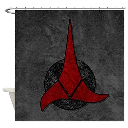 CafePress - STARTREK KLINGON STONE - Decorative Fabric Shower Curtain (Star Trek Curtain)