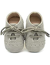 Baby Boys Girls Soft Sole Moccasins Lace-up Infant Toddler Shoes Sneaker
