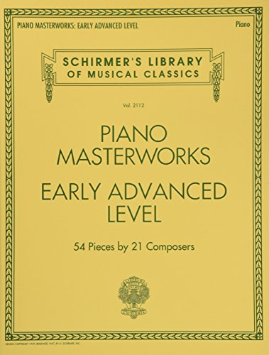 Piano Masterworks - Early Advanced Level Schirmers Library of Musical Classics Volume 2112 (Tapa Blanda)
