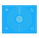Silicone Baking Mat 19.7'' x 15.7'' - Non-Stick Baking Mat for Housewife, Cooking Enthusiasts,pasta boards,Pastry Mat, Heat Resistant Nonskid Table Mat (Blue)