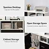 Tribesigns Large File Cabinet with Lock and Drawer, Modern Mobile Lateral Filing Cabinet Printer Stand Legal/Letter / A4 Size with Wheels and Storage Shelves for Home Office