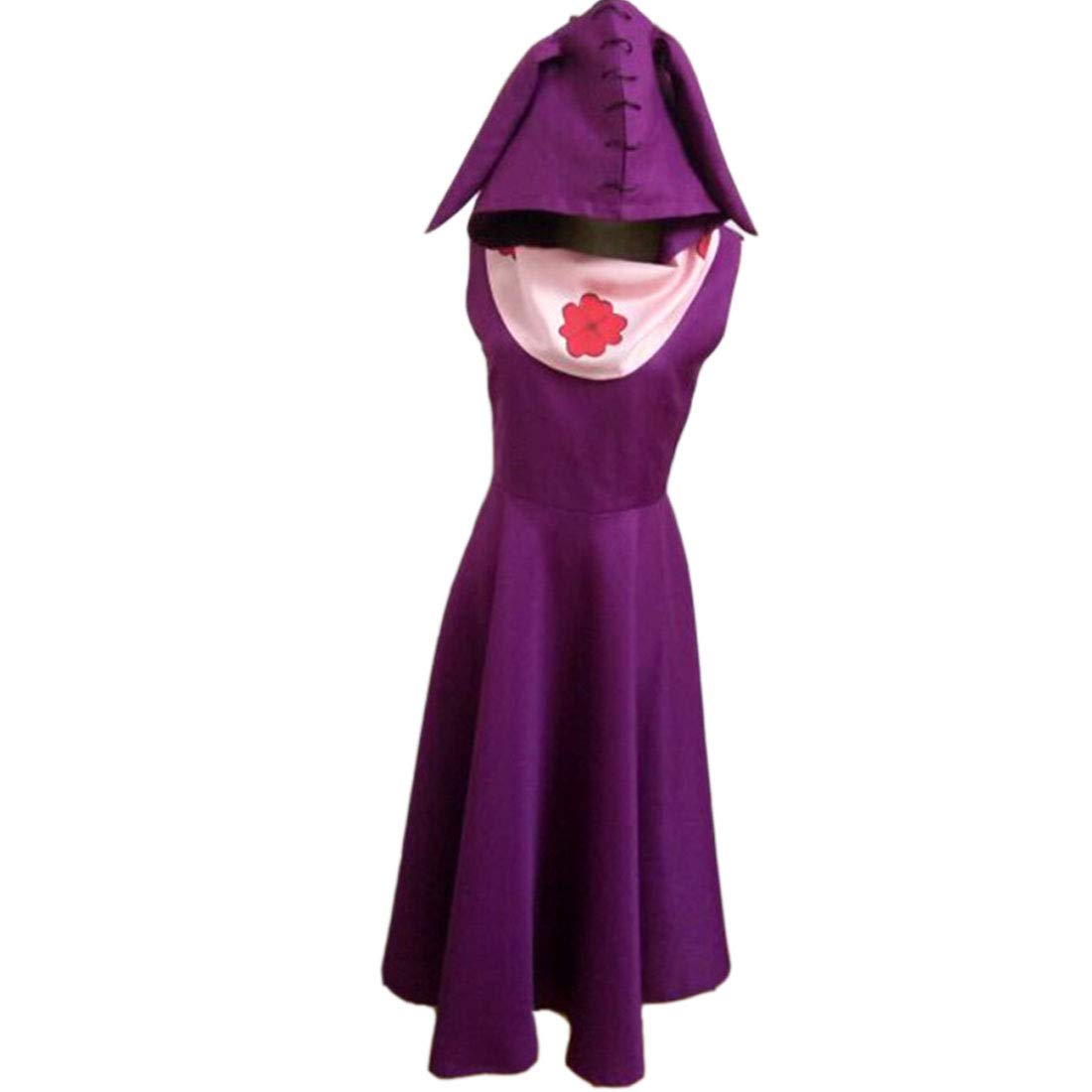 YKJ Anime Cosplay del Partito di Natale Costume Lady Masquerade Uniform Gonna Viola e Sciarpa,Purple-S