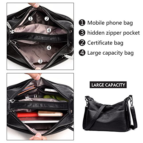Hobo Fashion Tote Alovhad Top Bags Soft Handle Bags Crossbody Handbag Black Purse Messenger for Leather Shoulder Women Bags PU dYrnqxY