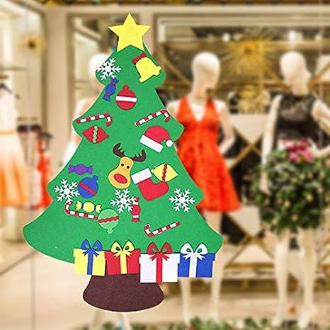 Christmas Fabric 2019.Fabric Thick 2019 Diy Stereo Felt Christmas Tree Hanging