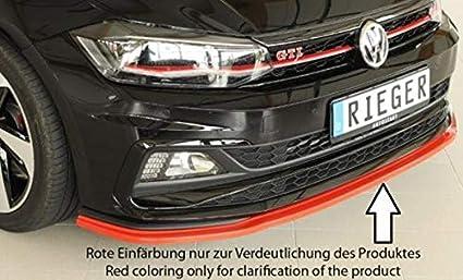 Rieger Frontal Alerón Espada Negro Mate para Volkswagen Polo (AW ...