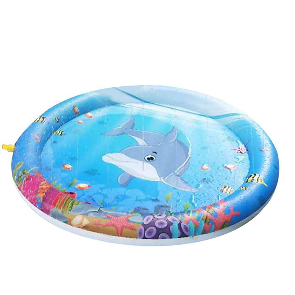 Faviye - Cojín Hinchable de Agua de delfín para bebé, Alfombra de ...