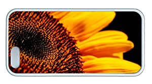 Cute poetic iphone 5S cases Sunflower flower close up high definition TPU White for Apple iPhone 5/5S