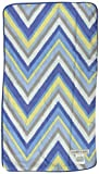 Caden Lane Ikat Collection Burp Set, Chevron Blue, 2-Count