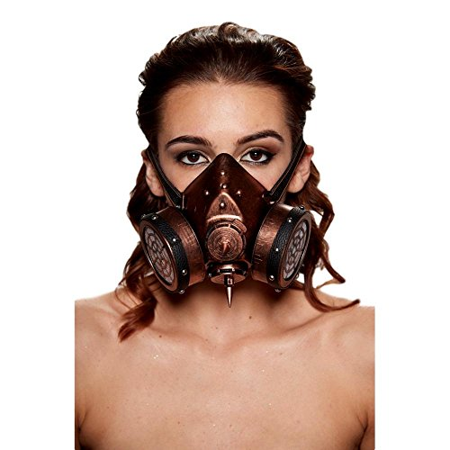 Steampunk Gas Masquerade Mask – not for Respiratory Protection (One Size Fits Most)