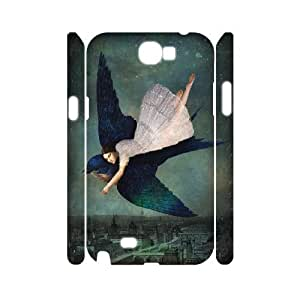 3D Doah Fly Me to Paris Samsung Galaxy Note 2 Case, Case for Samsung Galaxy Note 2 Phone {White}