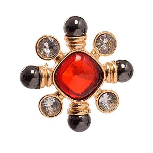 GRACEART Vintage Medieval Victorian Brooch Antique Pearl Gemstone Breast Pin