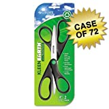 Westcott KleenEarth Recycled Scissors, Pack of 2, 8'' Straight, Case of 72