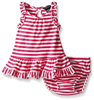 Nautica Girls' Drop Waist Stripe Dress w...