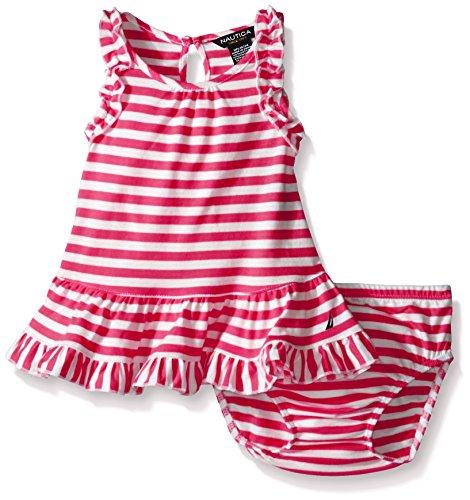 Nautica Girls Stripe Ruffle Details