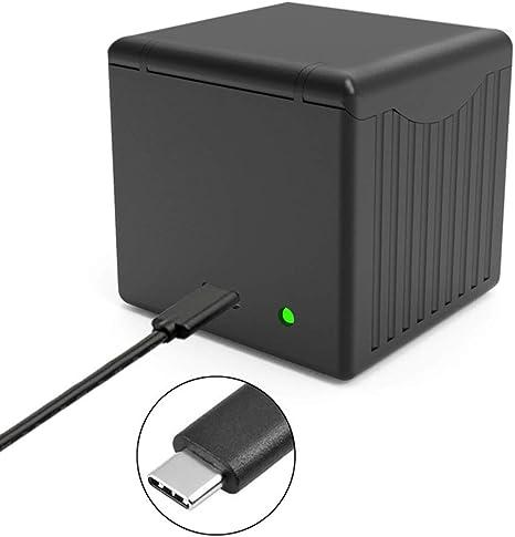 OWNTHRE Cargador de batería Caja de Carga Carga rápida 3 Puertos Tipo C para cámara Deportiva dji OSMO Action: Amazon.es: Electrónica