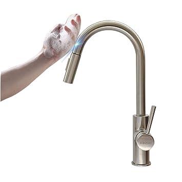 Küchenarmatur, Touch aktiviert Edelstahl One Handle High Arc besten ...