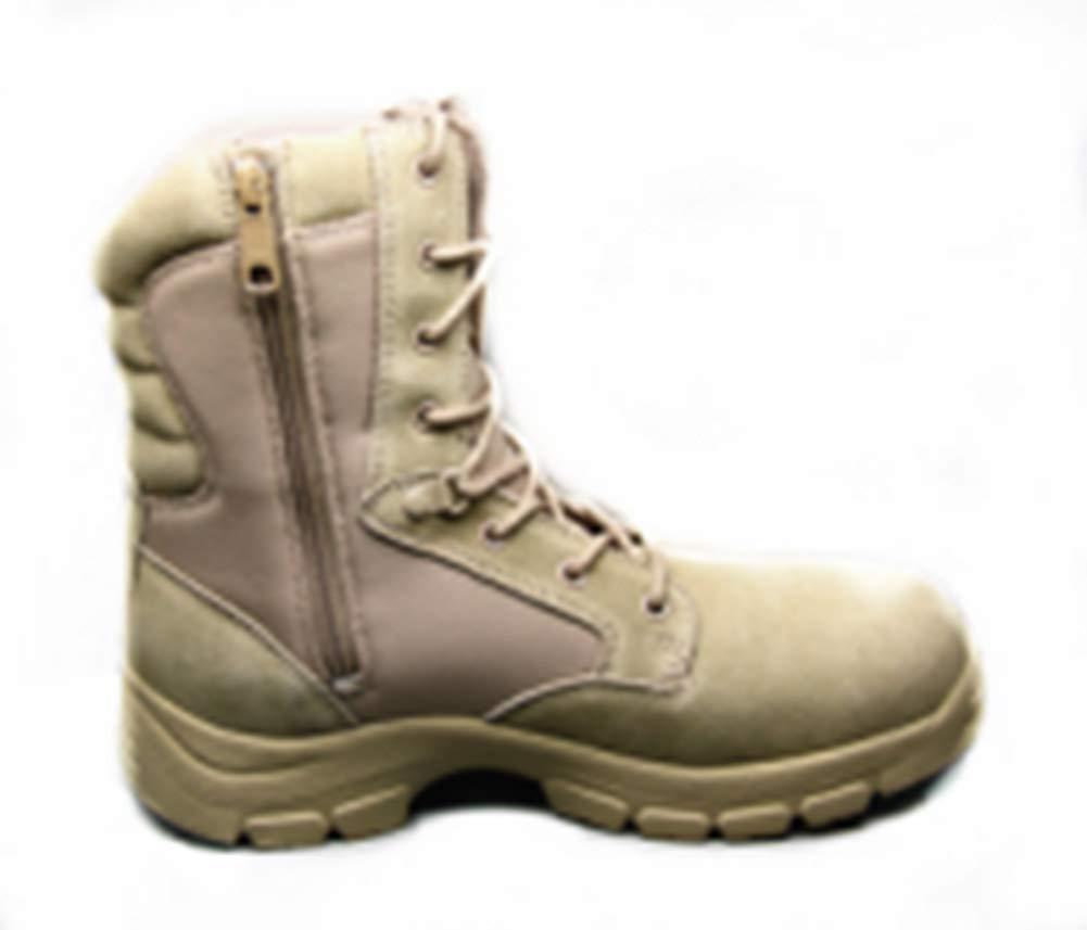 Schuhe Militärische Taktische Arbeitsstiefel der Männer Kampfstiefel Seitlicher Reißverschluss Zweite Wildleder & Canvas,0
