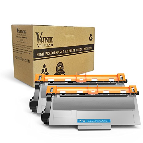 V4INK 2-Pack Compatible Toner Cartridge Replacement for Brother TN750 TN720 High Yield Toner Cartridge for Brother hl-5470dw hl-5470dwt mfc-8710dw mfc-8950dw mfc-8910dw dcp-8110dn dcp-8150dn Printer