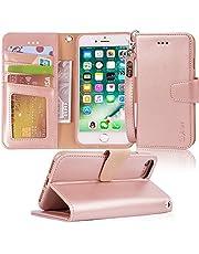 Arae iPhone 7 Hülle, iPhone 8 Hülle, Handyhülle Tasche Leder Flip Cover Brieftasche Etui Schutzhülle für iPhone 7/8