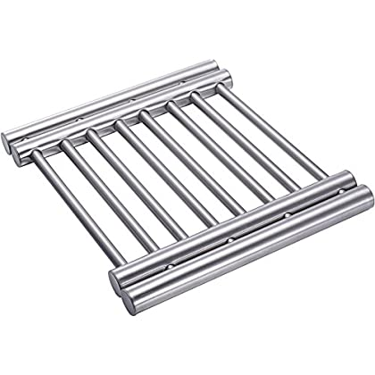 Pro Chef Kitchen Tools Trivets For Hot Dishes - Hot Plate Holder Metal Cooling Rack Expandable Trivet To Protect Counter Table Top Serving Of Instapot Slow Cookers - Instant Pots And Crock Pot Liners