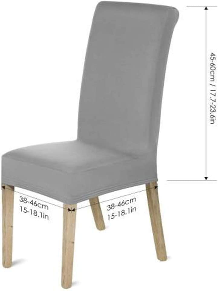 Chaise/Couvre Housse Court Chaise Couvre Stretch Chaise Couvre Tabouret Housse Chaise Housses De Protection Housses de Chaise Chaise Haute Housses Gray