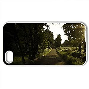 Beautiful Road - Case Cover for iPhone 4 and 4s (Forests Series, Watercolor style, White) by icecream design