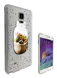 c0100 - Sand in a Jar Beach Design For All Samsung Galaxy Note 4 Fashion Trend CASE Gel Rubber Silicone Protective Case Clear Cover