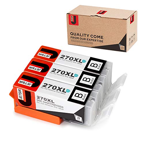 JetSir 3 Pack Compatible Replacement for Canon PGI-270 XL Ink Cartridge PGBK High Yield,Worked with Canon Pixma MG7720 MG5720 MG6820 MG6821 MG6822 MG5722 MG5721 TS5020 TS6020 TS8020 TS9020 Printer